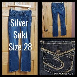 Silver Suki Fluid Jeans Size 28